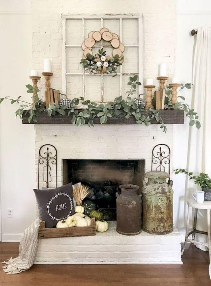 50 Beautiful Spring Mantle Decorating Ideas (38 | Farm ...