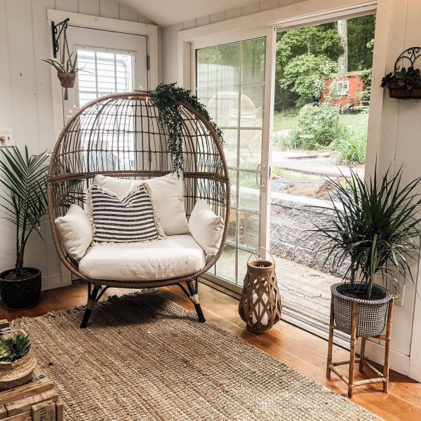 southport patio egg chair linen