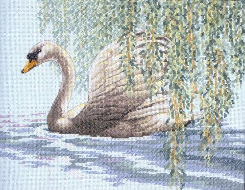Вышивка Лебедь у ивы (Größe)