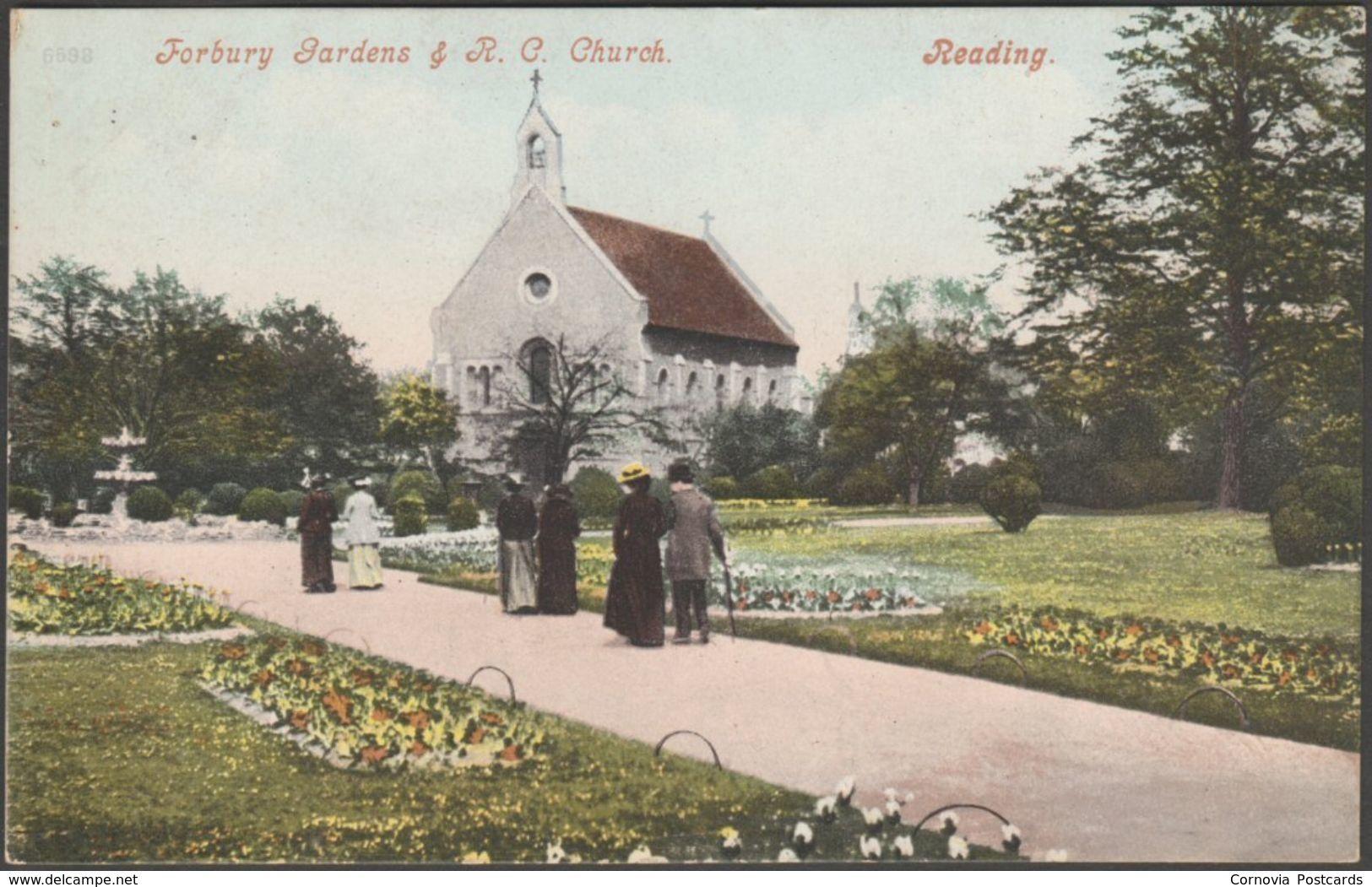 Forbury Gardens & Roman Catholic Church, Reading