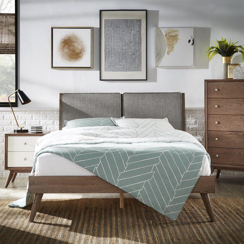 Beckham Queen Upholstered Platform Bed | apartment wishlist | Pinterest
