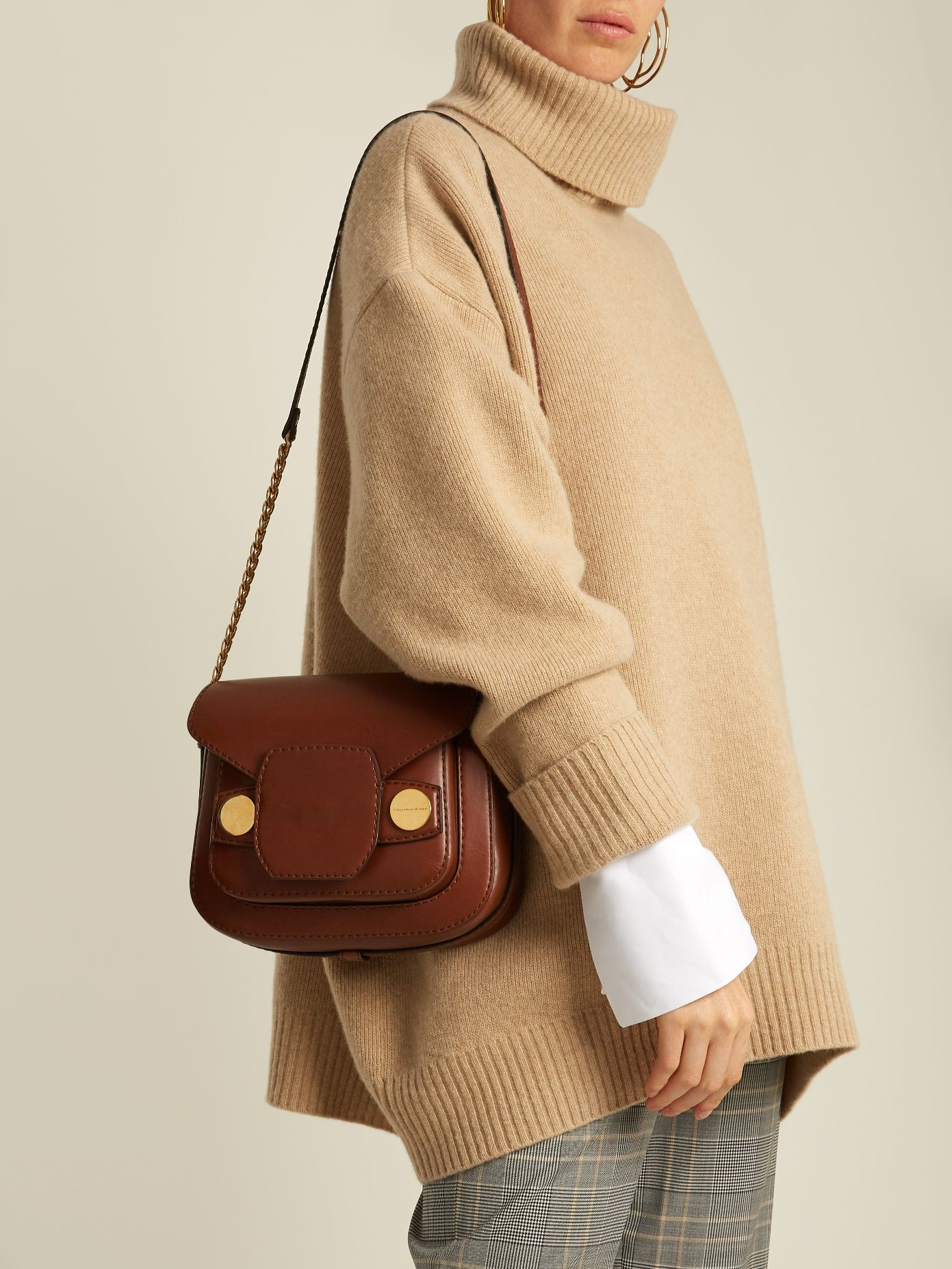 Click here to buy Stella McCartney Stella Popper faux-leather cross-body bag  at e81289da46