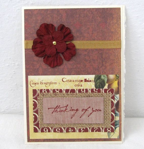 Rustic Card  Any Occasion Card  Rustic Chic by PrettyByrdDesigns, $4.00