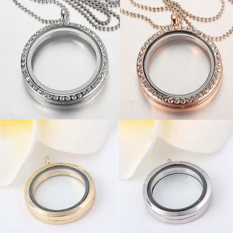 DIY Punk Snap-It Chunk Button Floating Charms Locket For Snap Ring Jewelry Hot