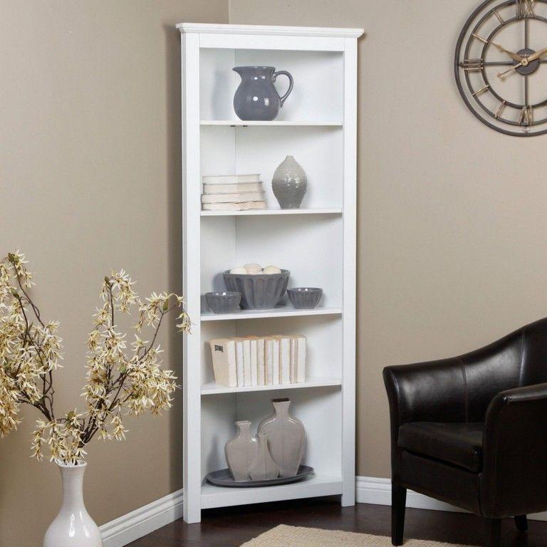 20 Amazing Corner Shelves Design Ideas For Your Living Room Livingroomfurniture Livingr Corner Shelves Living Room White Corner Bookcase Corner Shelf Design