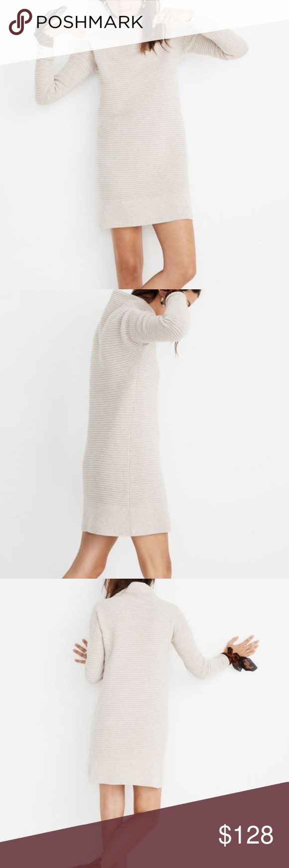 53893e37934 Madewell Skyscraper Sweater-Dress A sophisticated funnelneck sweater-dress  in a textural mix of