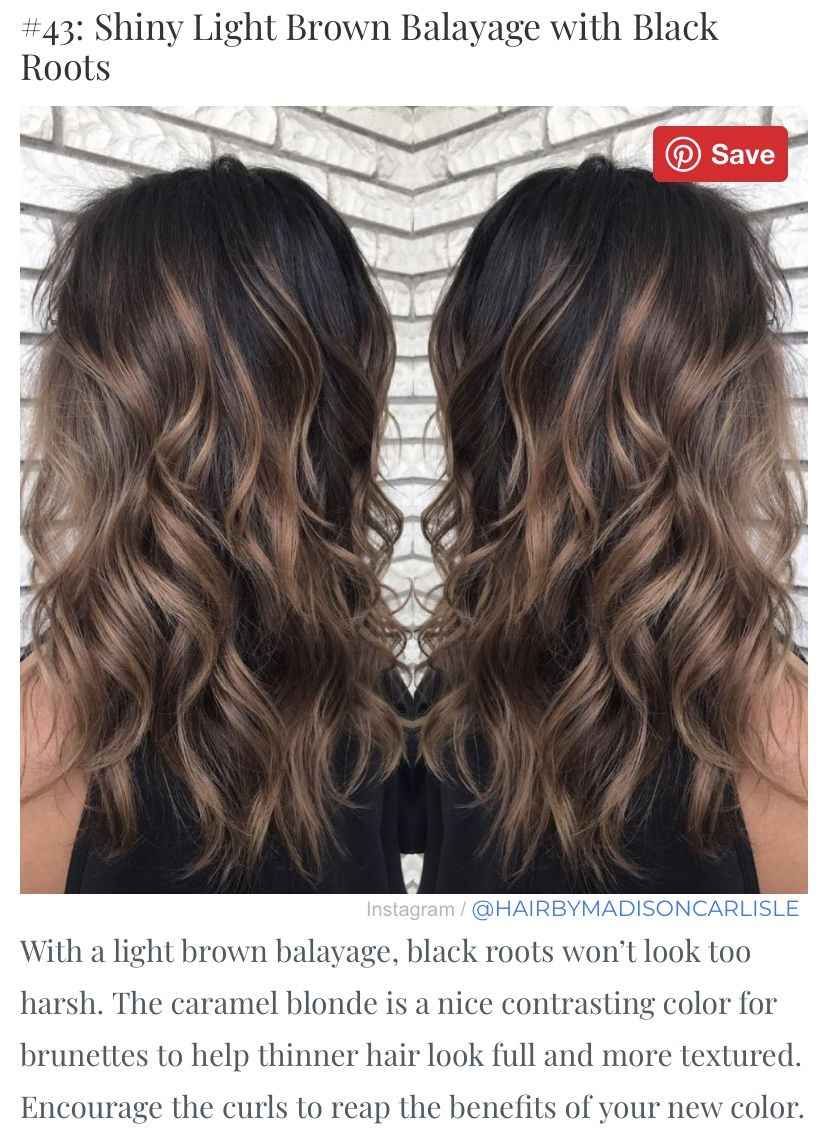 Very Pretty Style Still Has Dark Base For A Transition Hair Color For Black Hair Dark Brown Hair Balayage Easy Hair Color