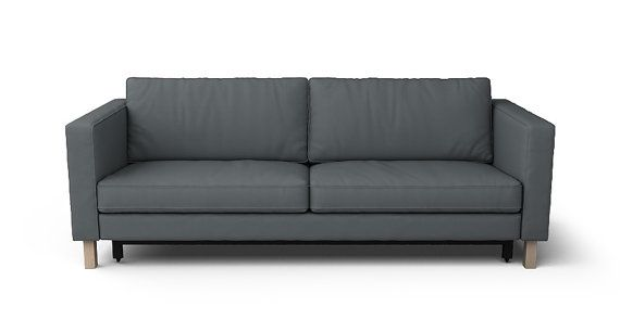 Karlstad 3 Seat Sofa Bed Cover Fest Amsterdam Dunbar Ikea Seater Slipcover In Kino Charcoal Fabric By Comfortworks