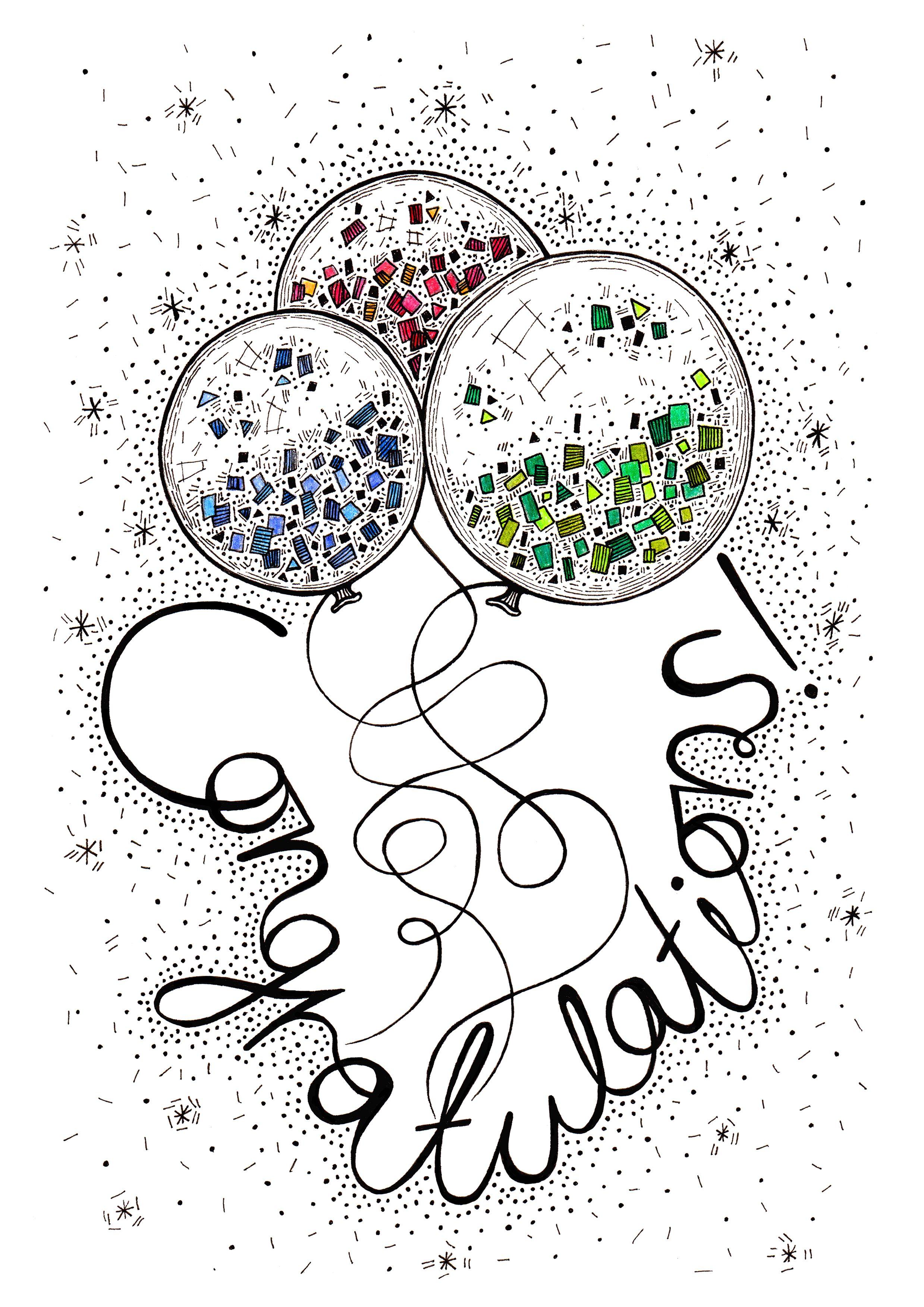 Congratulations Card Design By Laura Dumbrell My Doodles