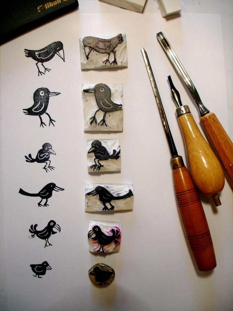 a stamp a day birds stempels pinterest stempel stempel selber machen und linoldruck. Black Bedroom Furniture Sets. Home Design Ideas