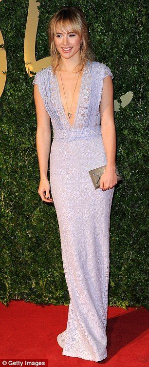 Suki Waterhouse at the 2013 British Fashion Awards