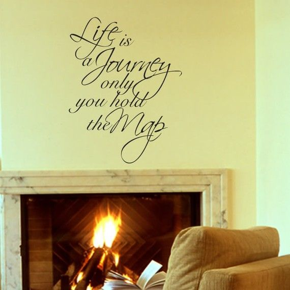 Life Is A Journey Vinyl Wall Words Art Sticker by Stickitthere ...