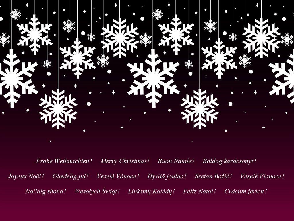 Merry Christmas! Frohe Weihnachten! Buon Natale! Boldog karácsonyt!