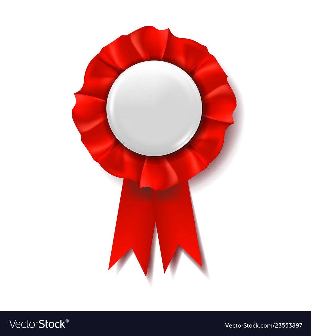 Red Award Ribbon Vector Certificate Banner Celebration Tag Advertising Event 3d Realistic Illustration Download A Free Preview Or Award Ribbon Vector Red