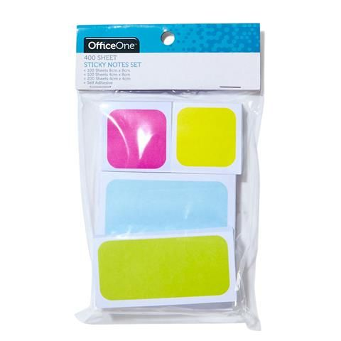 Sticky Notes Set 400 Sheets Kmart Sticky Notes