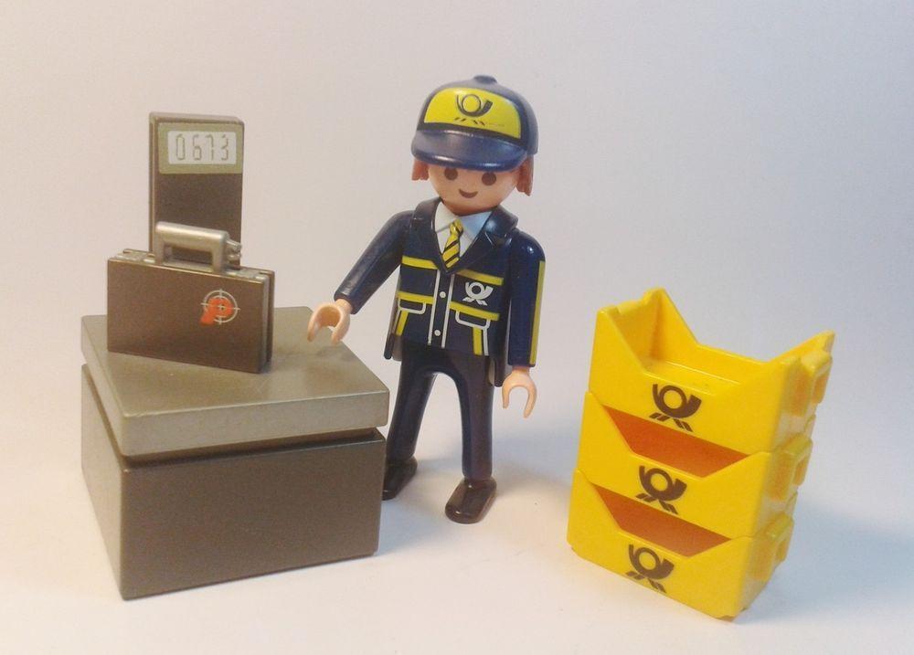 Playmobil figuras empleado de correos en la oficina con for Oficina de correos