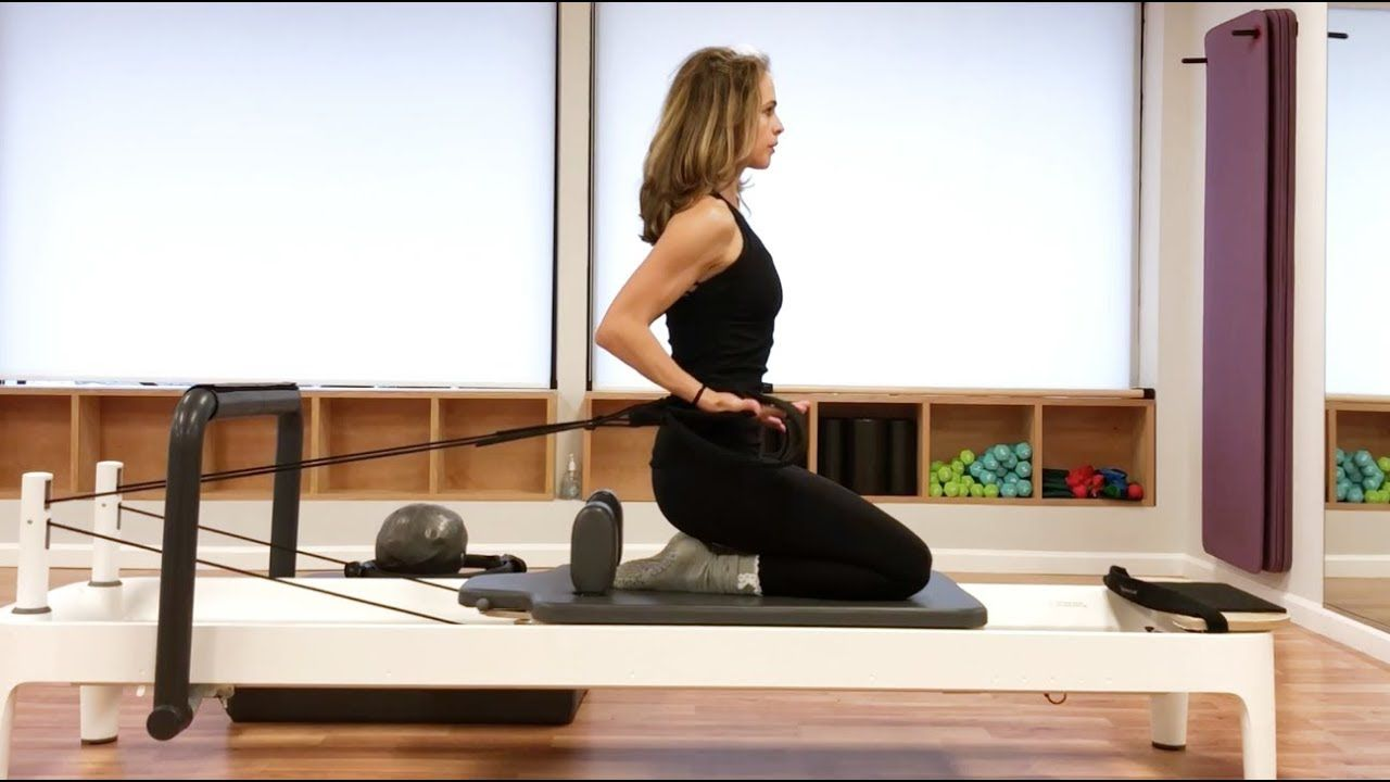 Pilates reformer arms abs class routine pilates