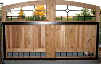 Wooden Metal Gate Gate Design Overhead Garage Door Wooden Gates