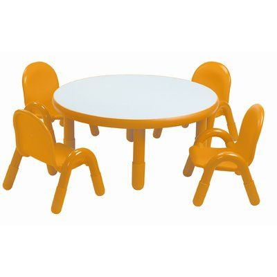 Angeles Baseline 36 Circular Activity Table Table Chair Sets