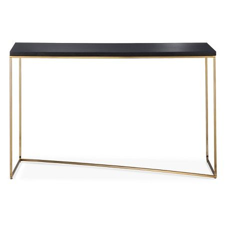 Stepney Console Table Brass and Black Threshold Console tables