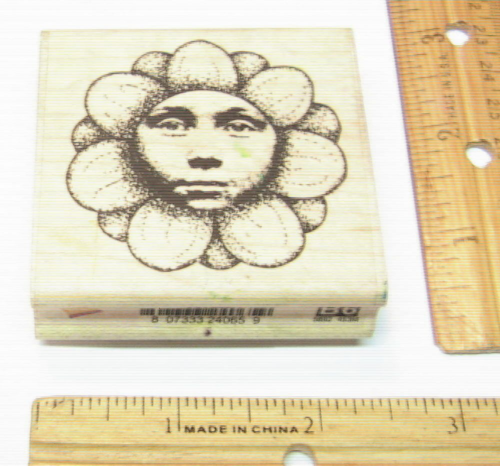FLOWER FACE TIME2FLY BY UPTOWN Rubber Stamp   #UPTOWN #RUBBERSTAMP