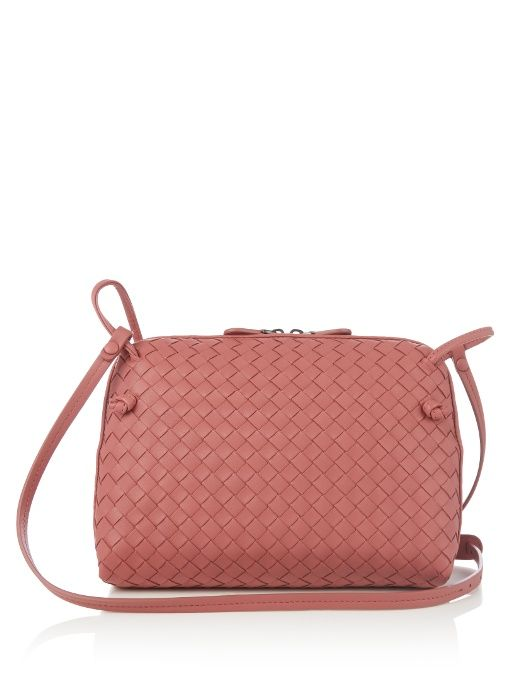 18792ae7a0 BOTTEGA VENETA Nodini intrecciato leather cross-body bag.  bottegaveneta   bags  shoulder bags  lining  suede