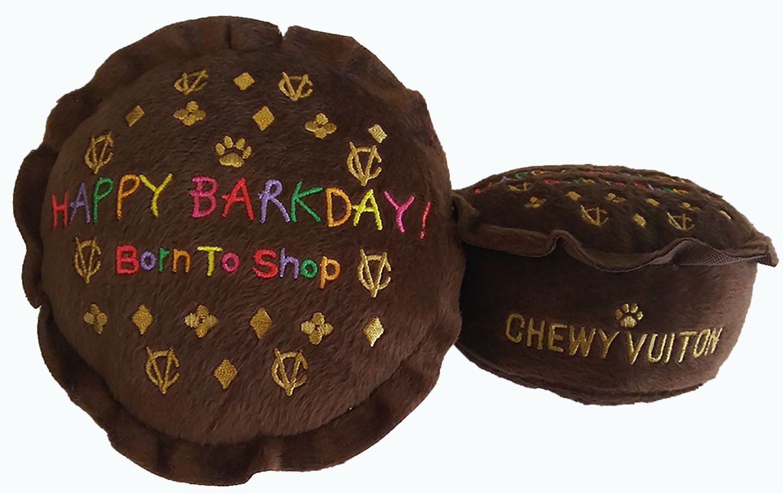 Chewy Vuiton Happy Barkday Dog Toy Dog toys, Dog