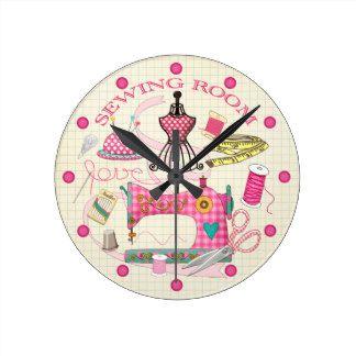 Sewing Wall Clocks Clock Wall Clock Embroidery Art