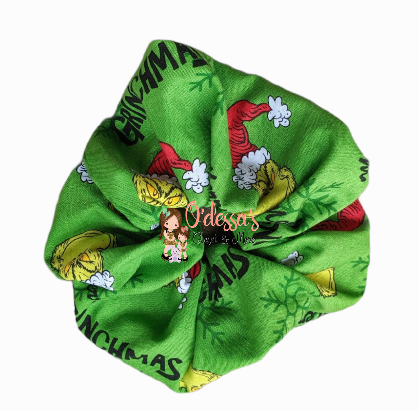 Christmas Scrunchies- Green Monster Whoville Scrunchies - G. Monster Toss