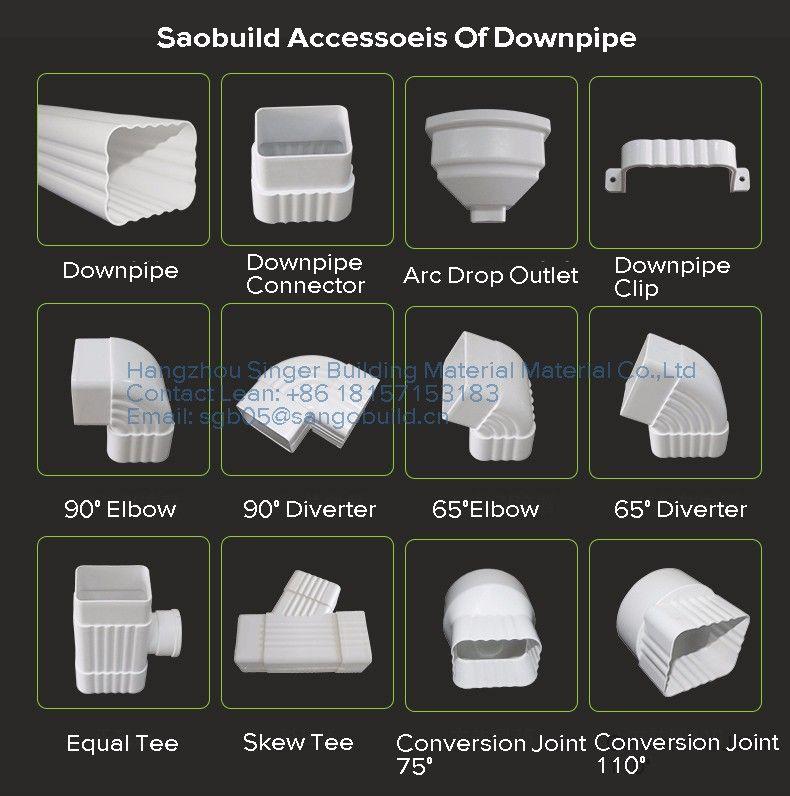Soncap Coc Drink Safe Kenya Nigeria Plastic Roof Rain Gutters Materials Price Philippines Plastic Pvc Roofing Rain Gutters Pvc