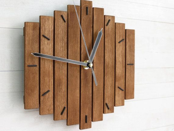 The Mixor 12 Industrial Wall Clock Unique Wall Clock Etsy Diy Clock Wall Rustic Wall Clocks Wood Wall Clock