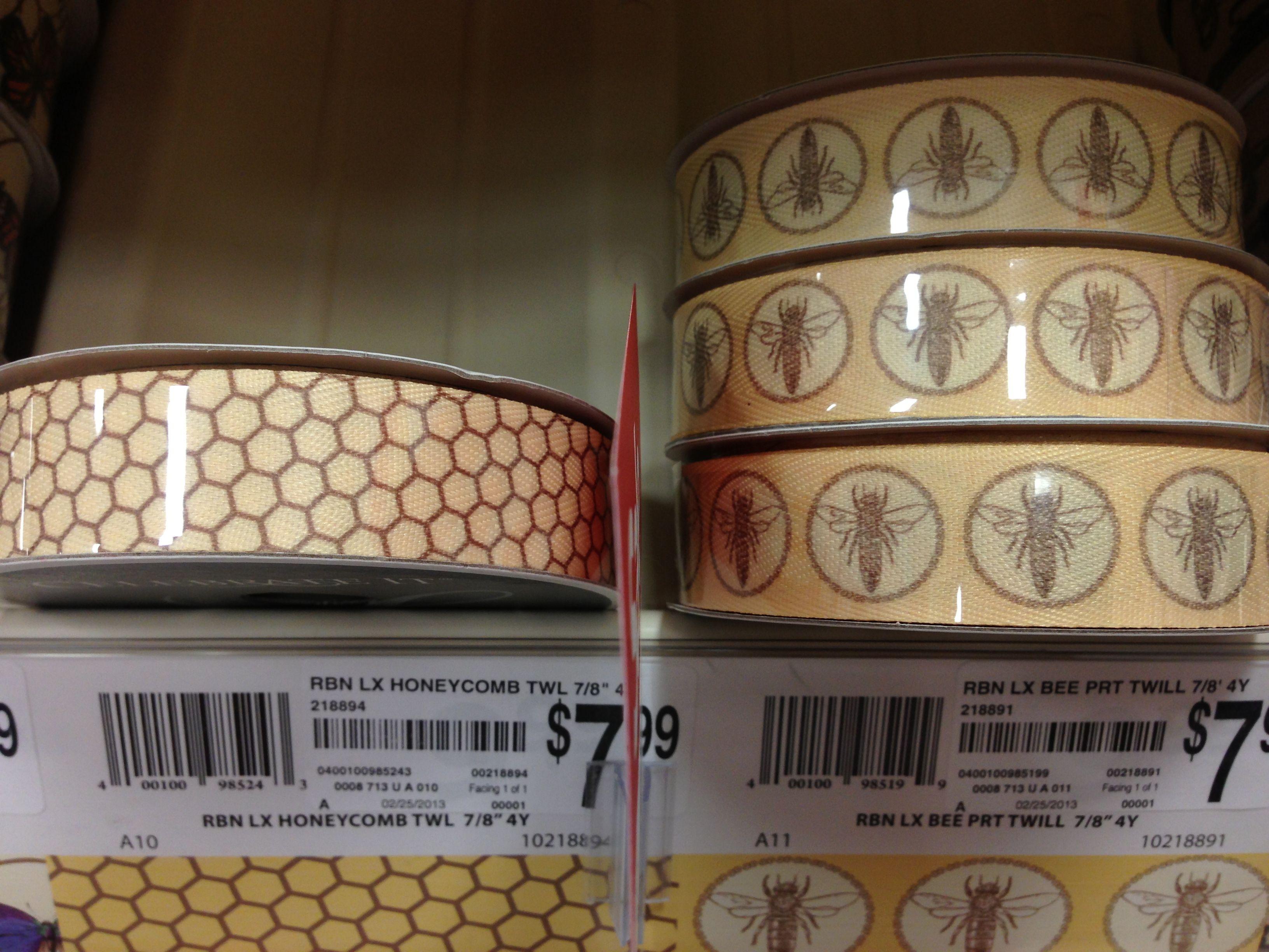Honeycomb/ Bee ribbon // Michael's   honey bees   Bee