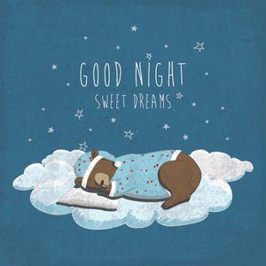 Good Night Vector Graphic 300 x 300 px