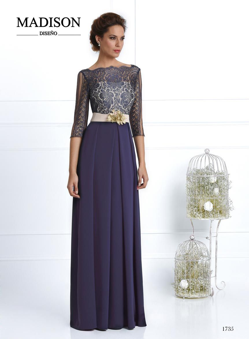 vestido de boda y fiesta largo azul | Vestidos | Pinterest | Vestido ...