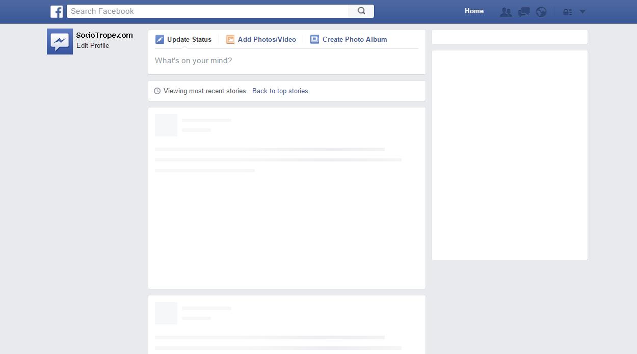 Sociotrope Unofficial Facebook Blog Facebook Down Facebook Post Template Facebook Templates Facebook Cover Template