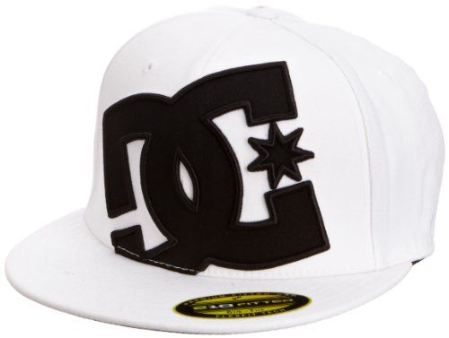 Authentic DC 210 Fitted FlexFit Flat Bill Brim Baseball Hat Cap Skate Shoes NEW
