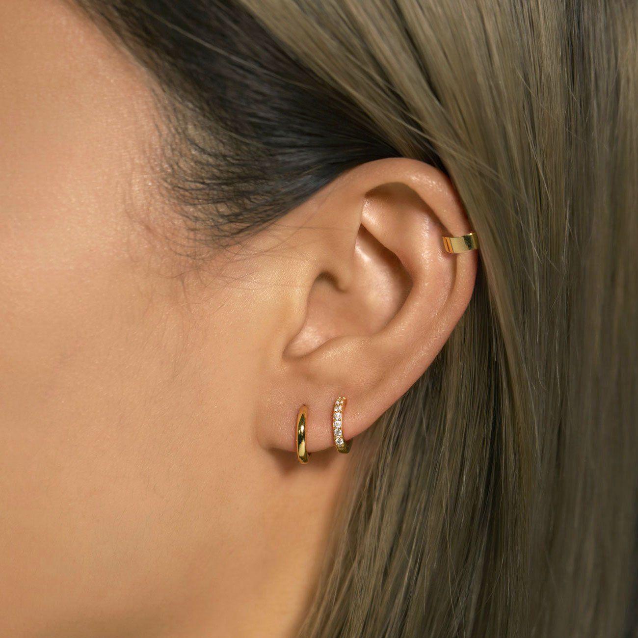 Photo of Pave Huggie Earrings