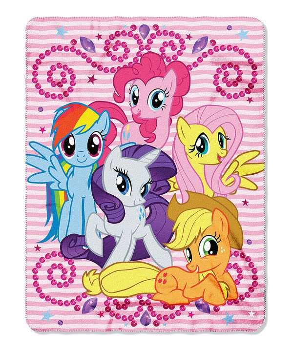 Look at this My Little Pony 'Sparkle Ponies' Fleece Throw on #zulily today!
