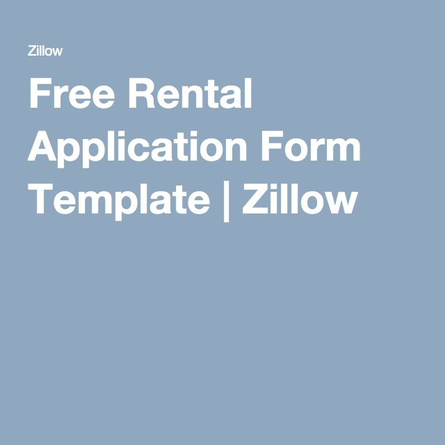 Rental Application Form Free Rental Application