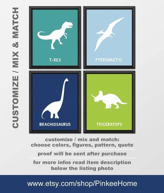 dinosaur kids room decor, dinosaur nursery art, dinosaur theme nursery, dinosaur baby bedroom decoration, toddler dinosaur PRINT/CANVAS/DIGI