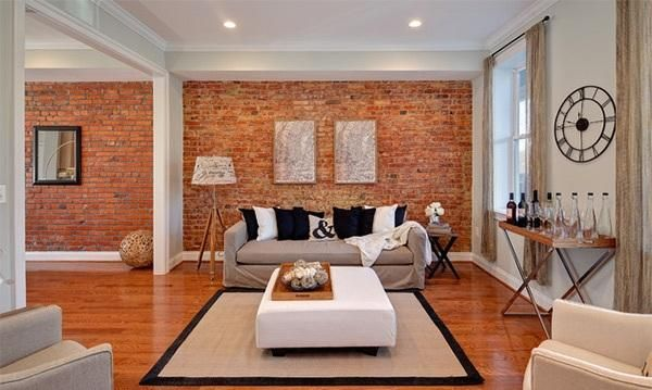 Charmant 20 Exposed Brick Walls In Modern Living Rooms   Rilane