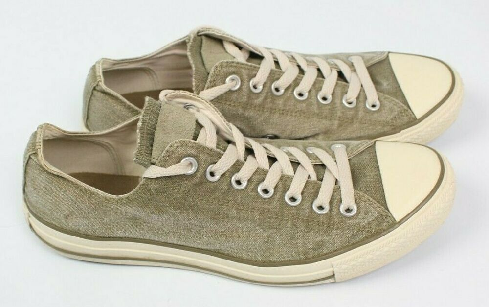 eBay Ad) Converse All Star olive green lace up sneakers low