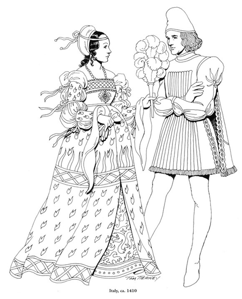 Renaissance coloring page coloring pages and printables