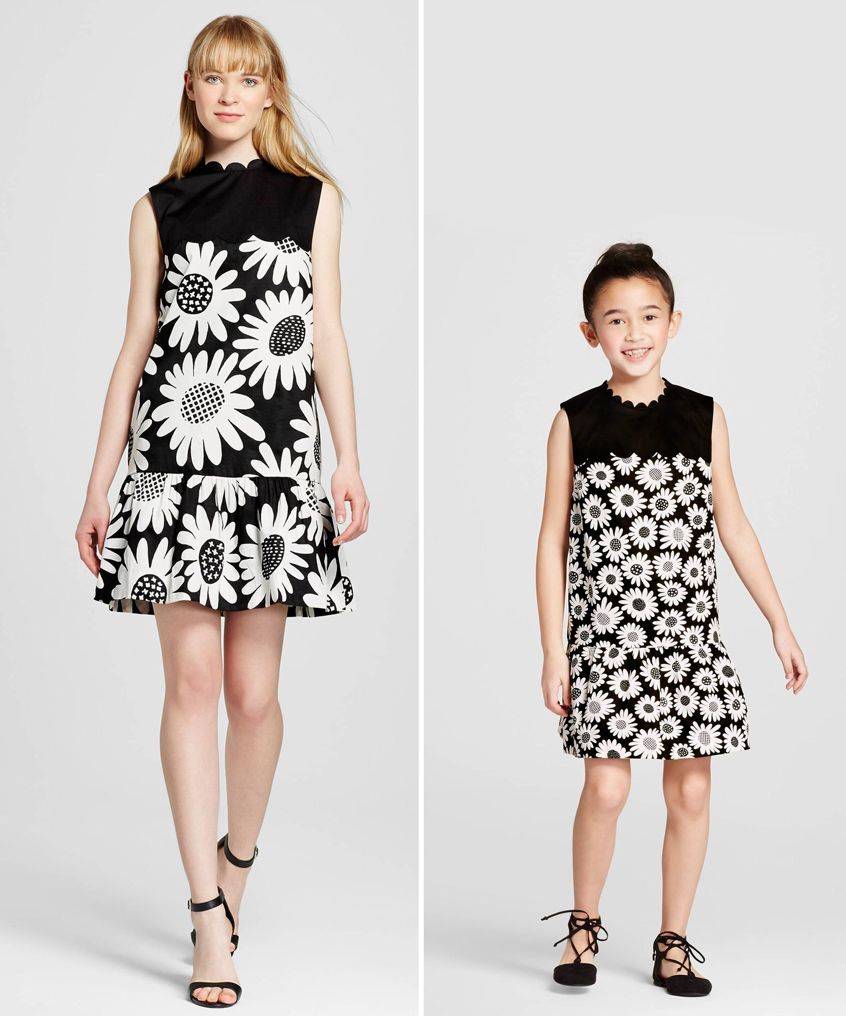 1f78ace46 Victoria Beckham x Target Has Chic Mommy-and-Me Looks for Mother's Day -  Daisy Drop Waist Scallop Trim Dress from InStyle.com #fashion # victoriabeckham # ...