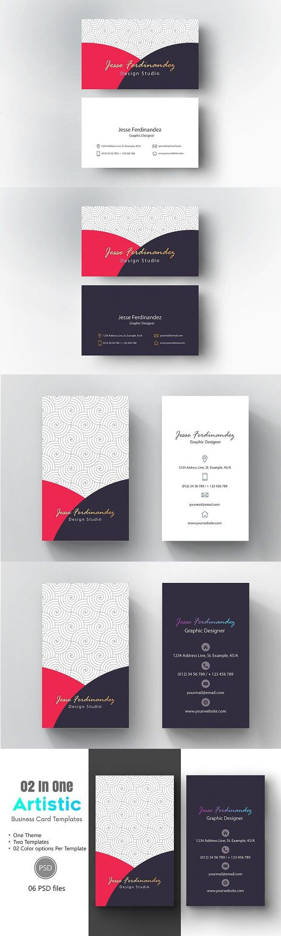 Artistic Business Card Template 008 Business Card Template Artist Business Cards Double Sided Business Cards