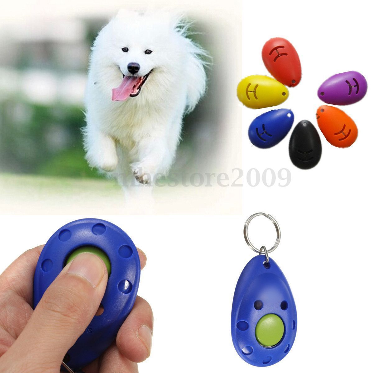 Dog Pet Puppy Cat Training Clicker Click Button Trainer Obedience
