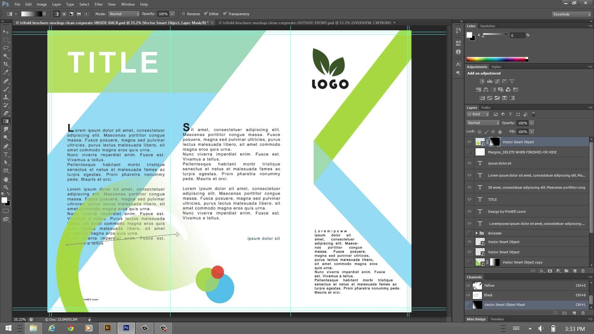 how to design a trifold brochure inkscape pinterest
