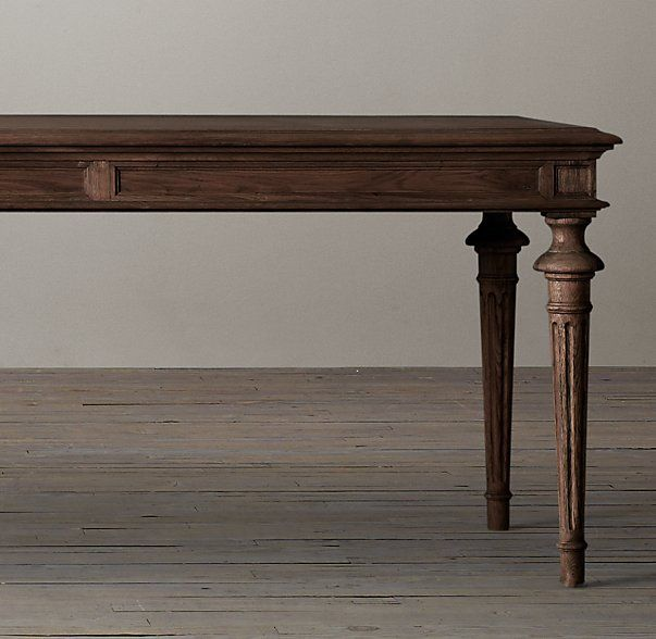 French Partners Rectangular Dining Table Restoration Hardware Sale