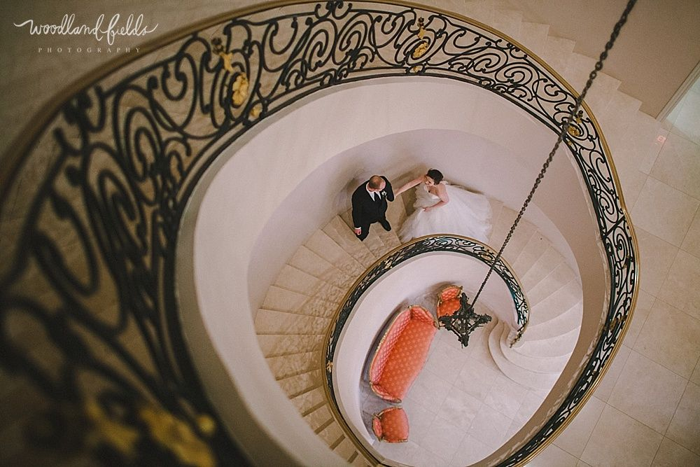 Woodland Fields Photography | Chateau Cocomar Houston Texas Wedding  Photographer | Bride And Groom Together On