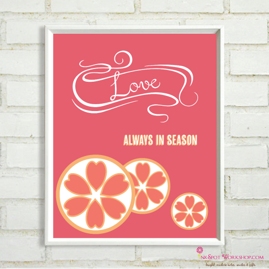 pink grapefruit cravings and free print  the inkspot
